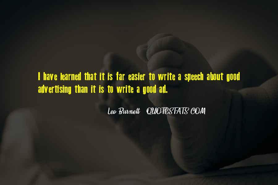 Leo Burnett Quotes #317116