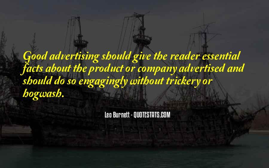 Leo Burnett Quotes #363430
