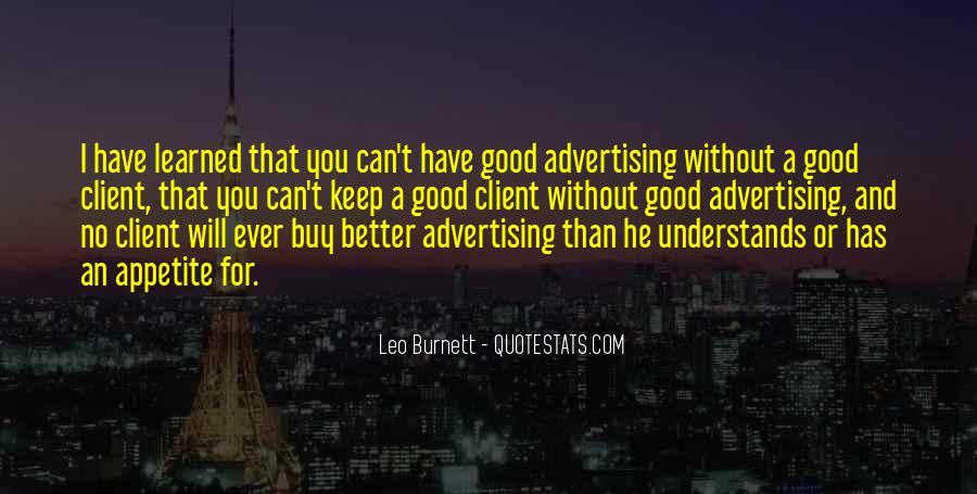 Leo Burnett Quotes #856702