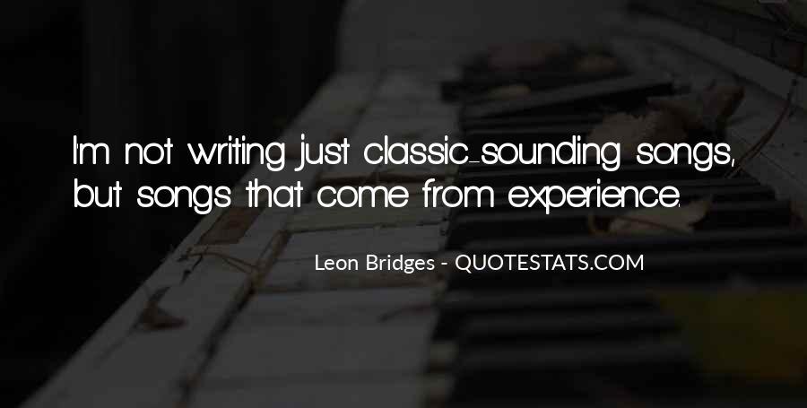 Leon Bridges Quotes #771101
