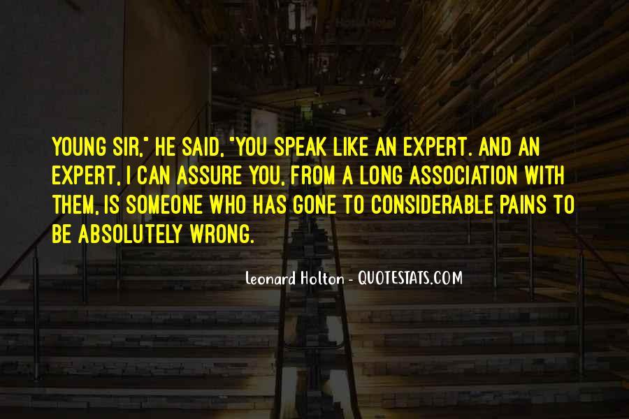 Leonard Holton Quotes #88436