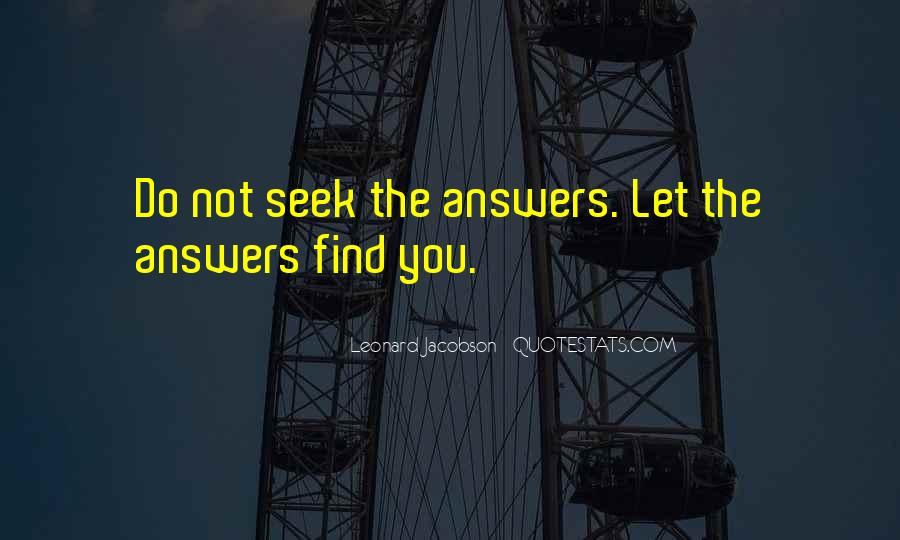 Leonard Jacobson Quotes #1162157