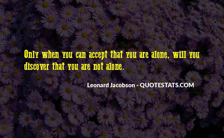 Leonard Jacobson Quotes #1237163
