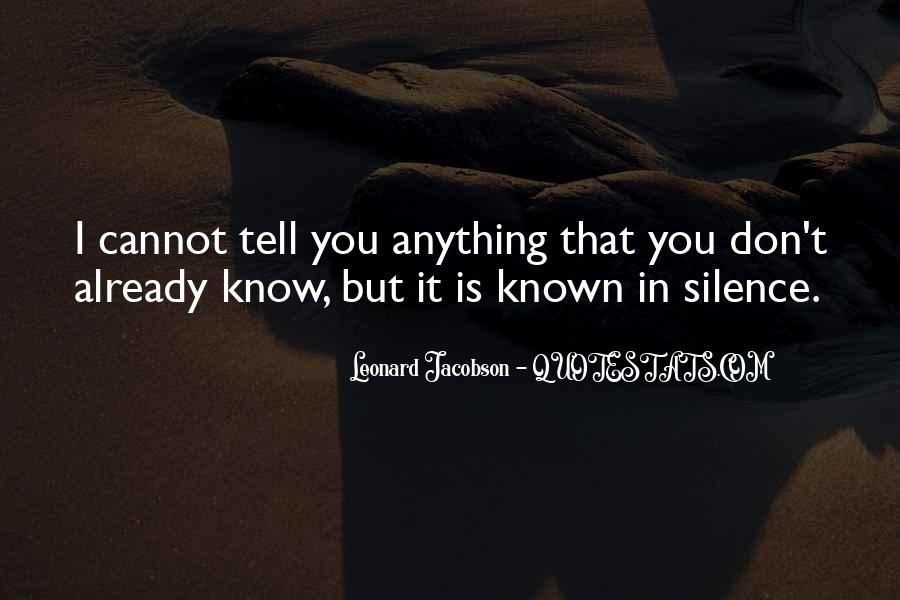 Leonard Jacobson Quotes #1745918