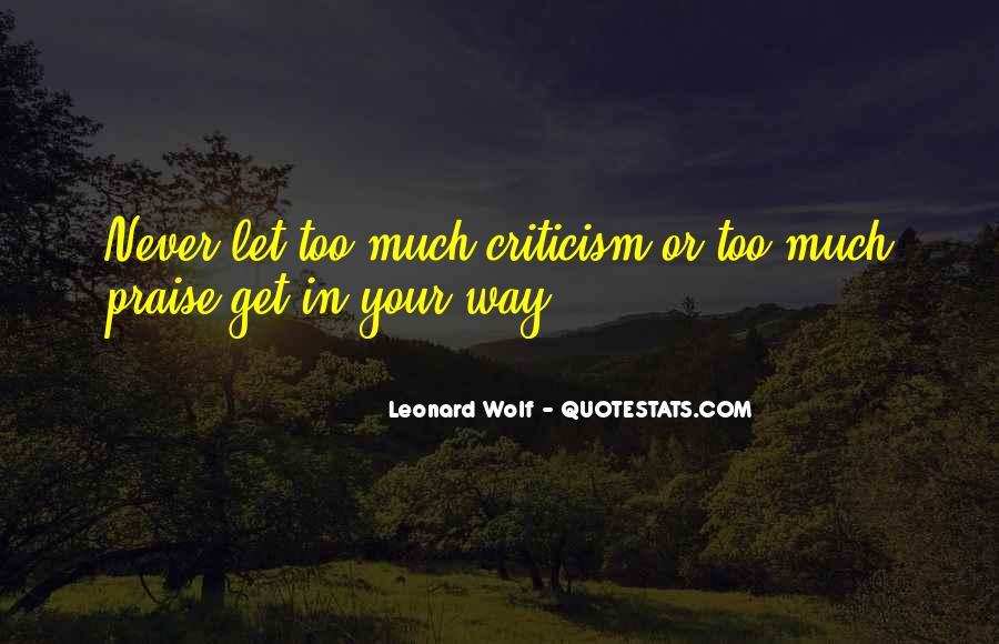 Leonard Wolf Quotes #32407