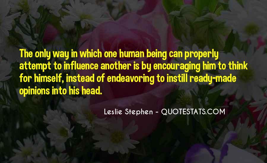 Leslie Stephen Quotes #180681