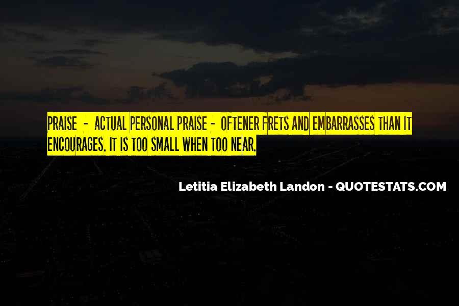 Letitia Elizabeth Landon Quotes #1115003