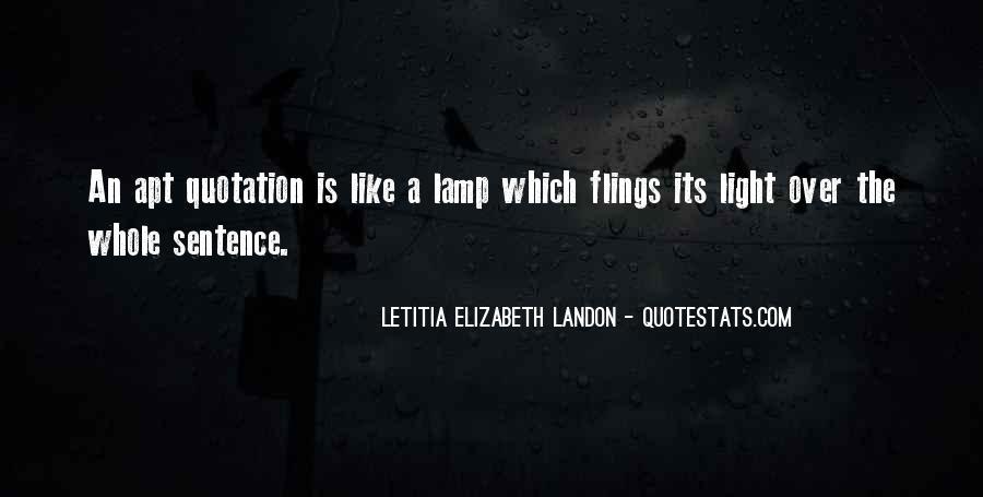 Letitia Elizabeth Landon Quotes #1131684