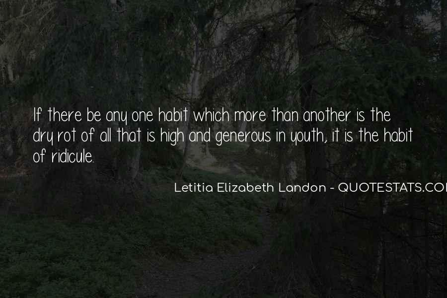 Letitia Elizabeth Landon Quotes #1471032