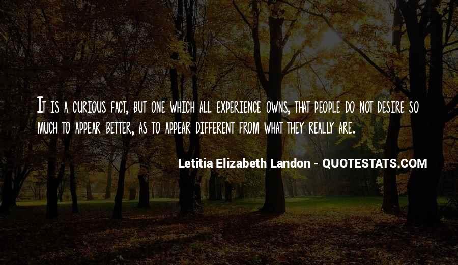 Letitia Elizabeth Landon Quotes #582182