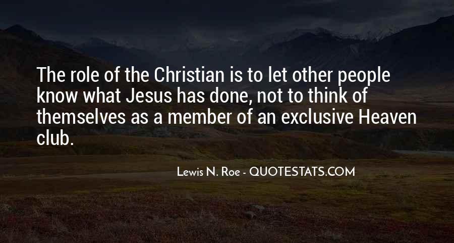 Lewis N. Roe Quotes #224571