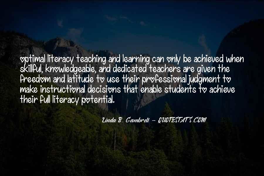 Linda B. Gambrell Quotes #1551965