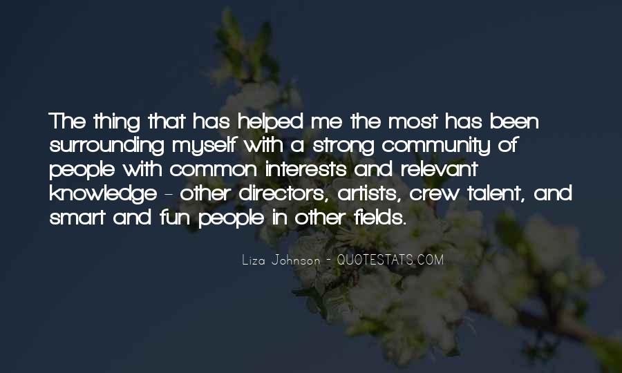 Liza Johnson Quotes #236573