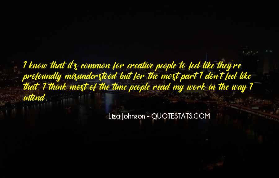 Liza Johnson Quotes #720052