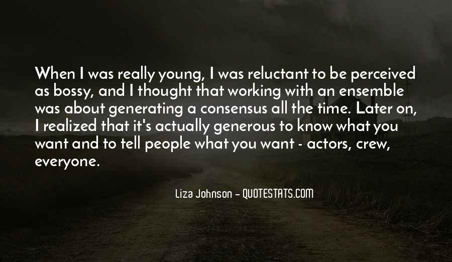 Liza Johnson Quotes #966669