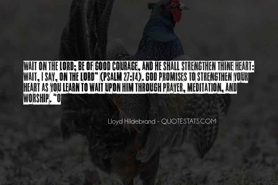 Lloyd Hildebrand Quotes #1733816