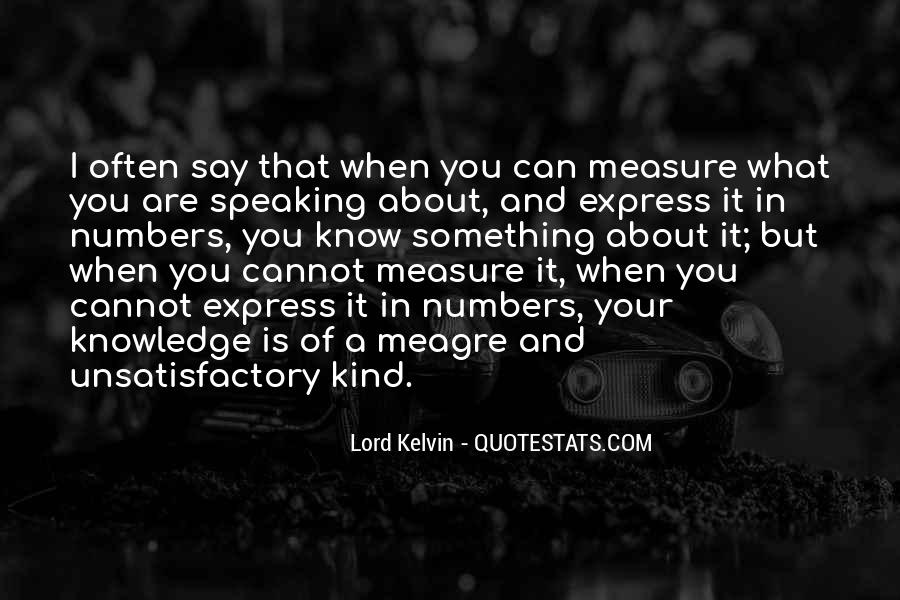 Lord Kelvin Quotes #1318326