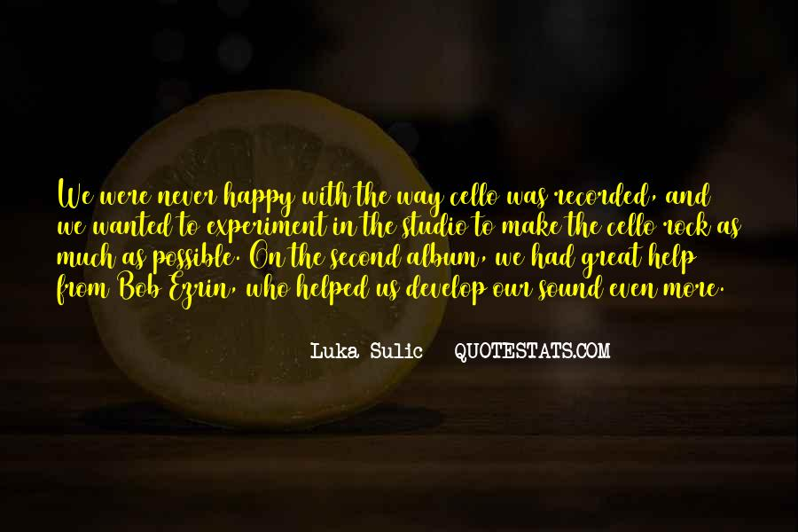 Luka Sulic Quotes #1390688