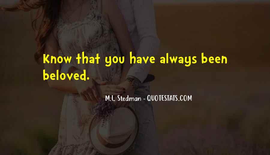 M.L. Stedman Quotes #1118437