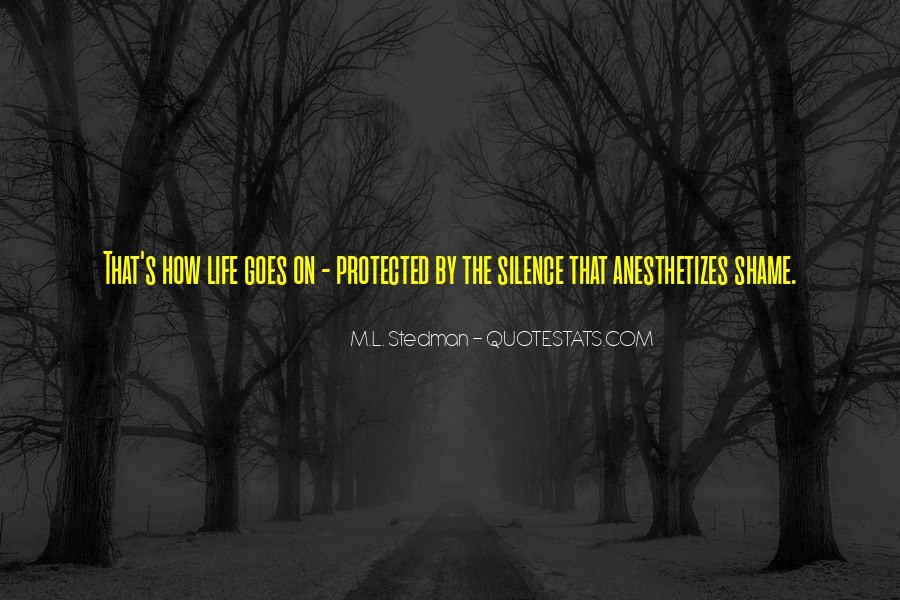M.L. Stedman Quotes #1199115