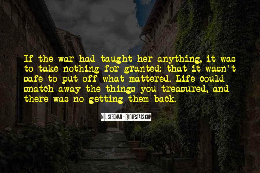 M.L. Stedman Quotes #130679