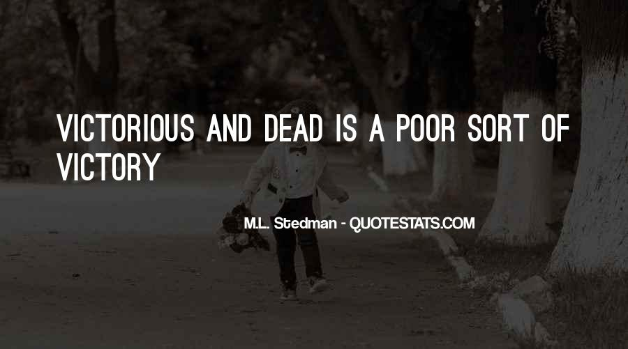 M.L. Stedman Quotes #1487492