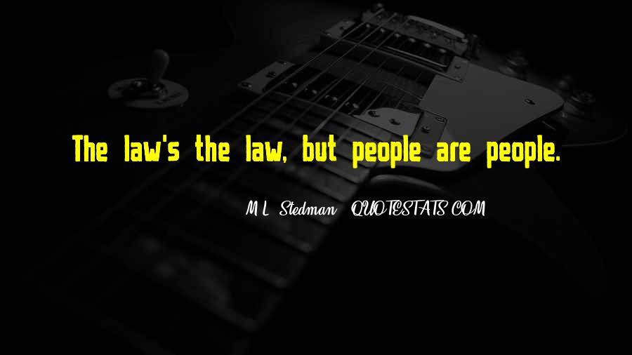 M.L. Stedman Quotes #15485