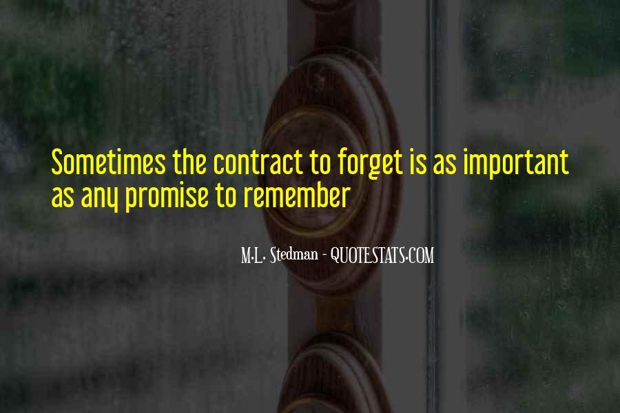 M.L. Stedman Quotes #1787653