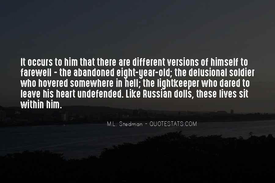 M.L. Stedman Quotes #294726