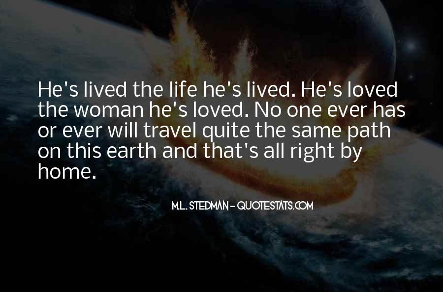 M.L. Stedman Quotes #324800