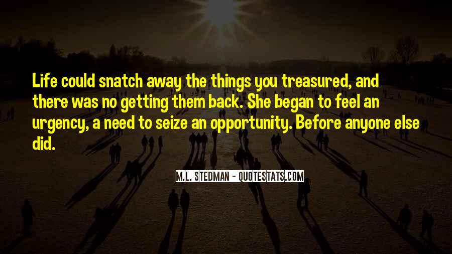 M.L. Stedman Quotes #572591