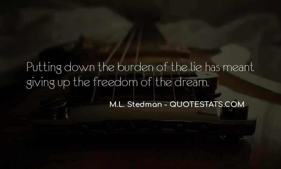 M.L. Stedman Quotes #648460