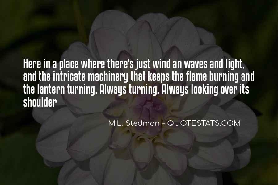 M.L. Stedman Quotes #85980