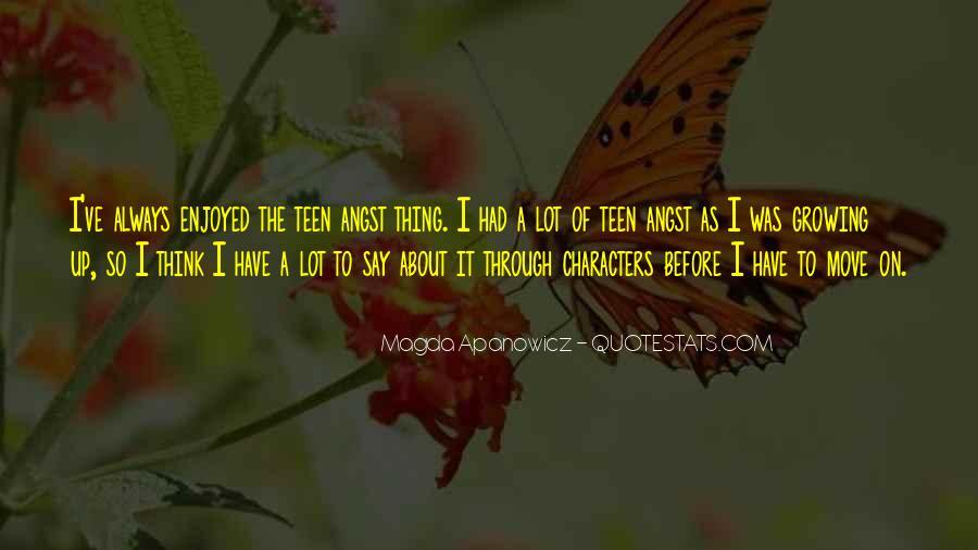 Magda Apanowicz Quotes #255941