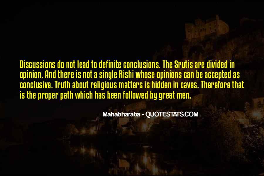 Mahabharata Quotes #1698426