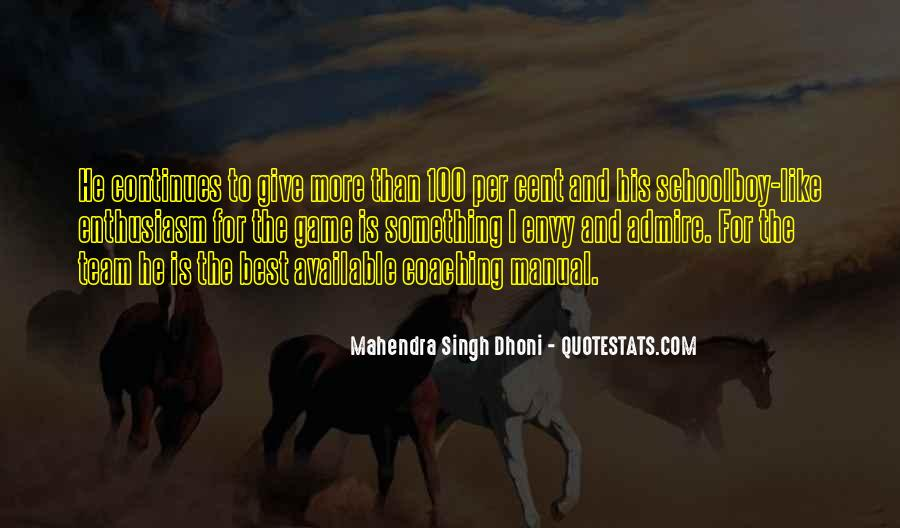 Mahendra Singh Dhoni Quotes #171178