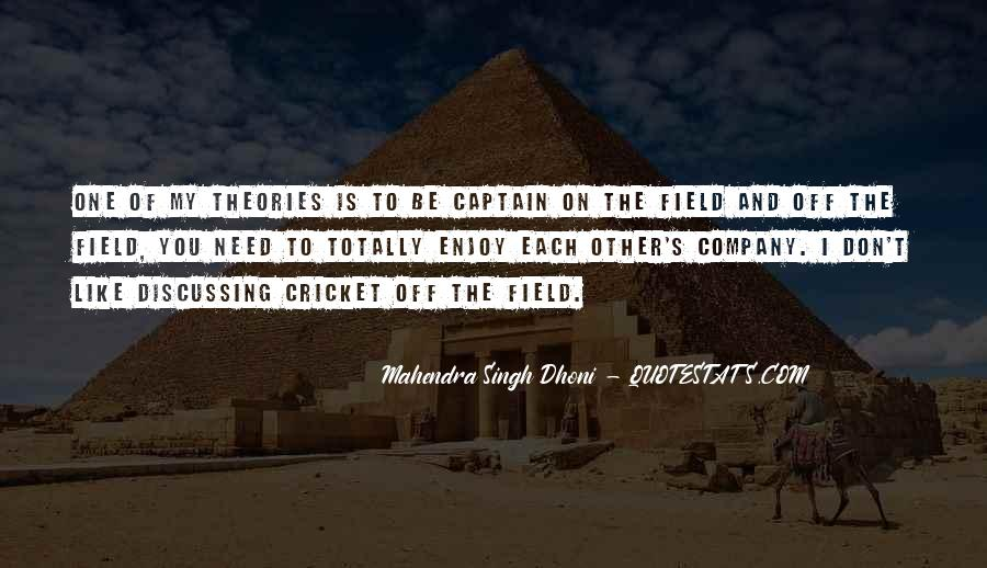 Mahendra Singh Dhoni Quotes #325521