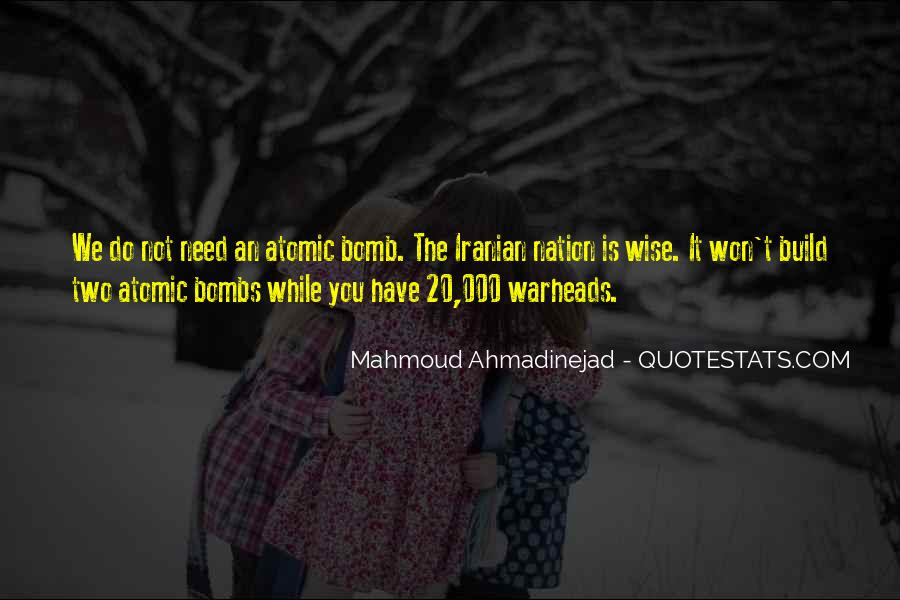 Mahmoud Ahmadinejad Quotes #1141883