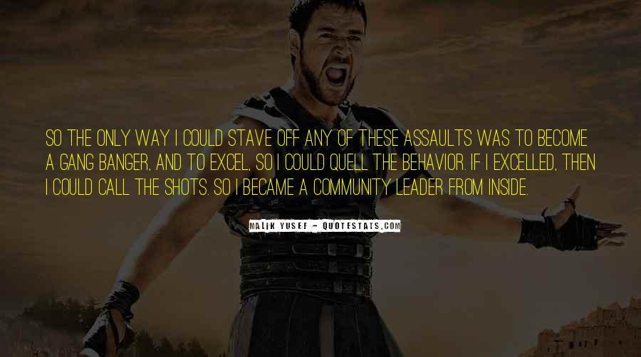 Malik Yusef Quotes #1453880