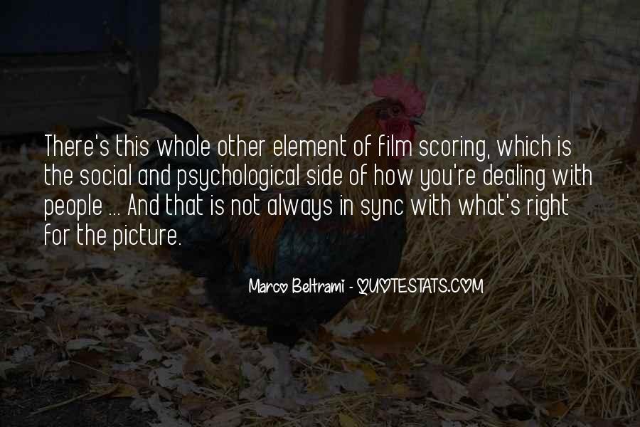 Marco Beltrami Quotes #1236403