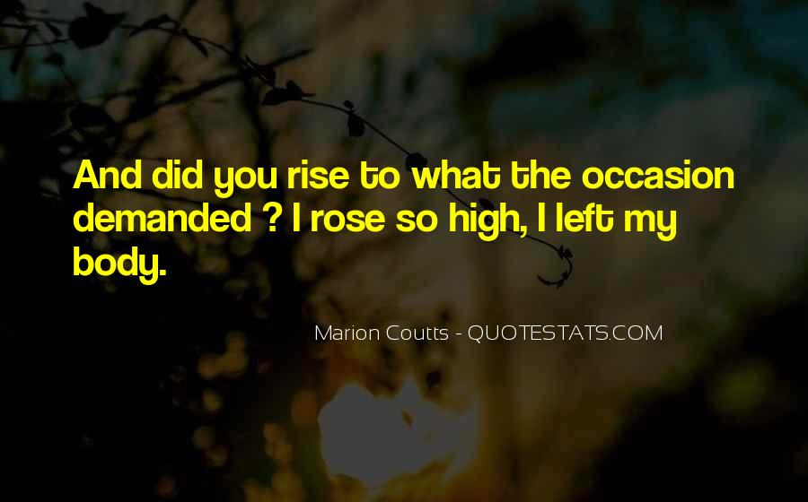 Marion Coutts Quotes #1648608