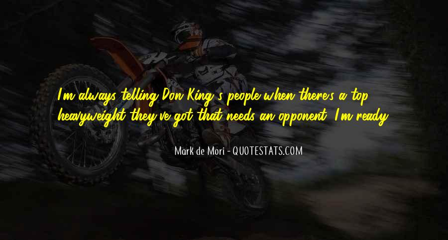 Mark De Mori Quotes #1296989