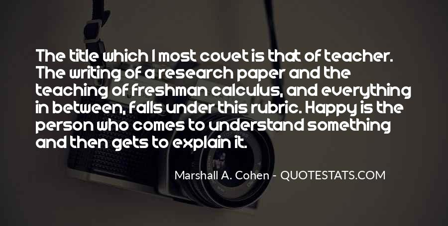 Marshall A. Cohen Quotes #509033