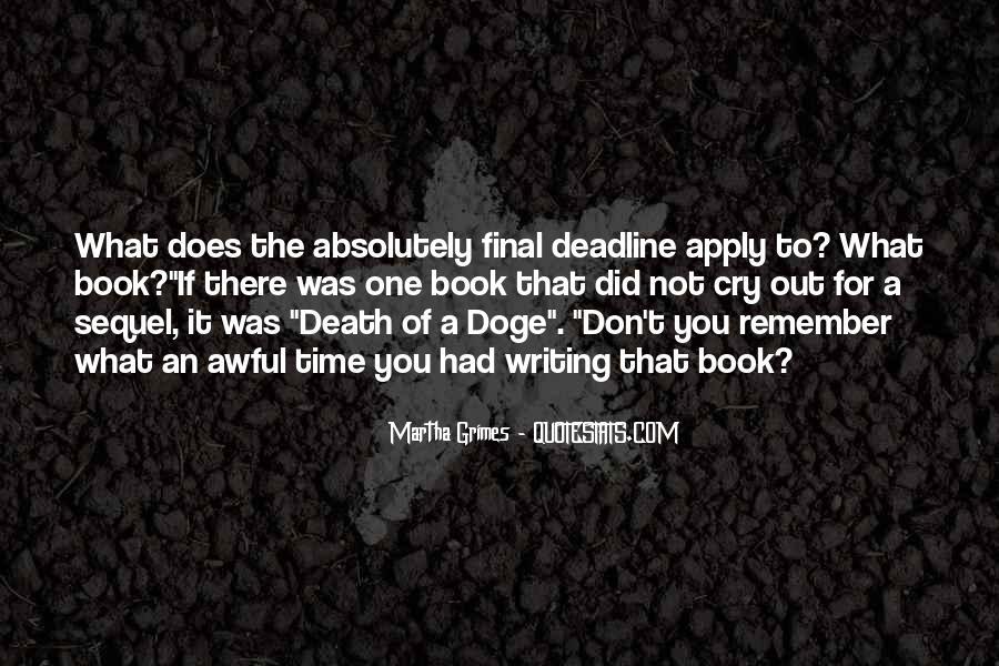 Martha Grimes Quotes #176310