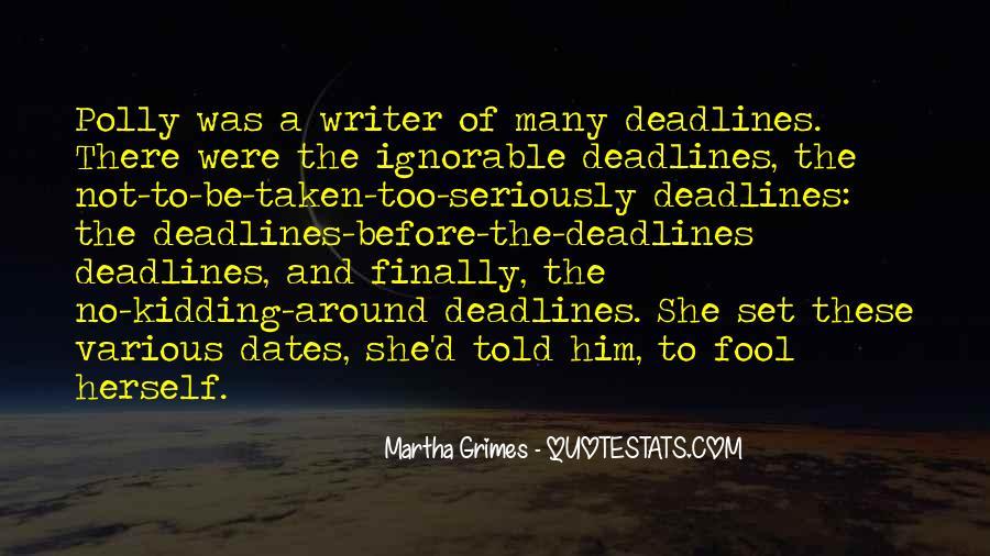 Martha Grimes Quotes #746421