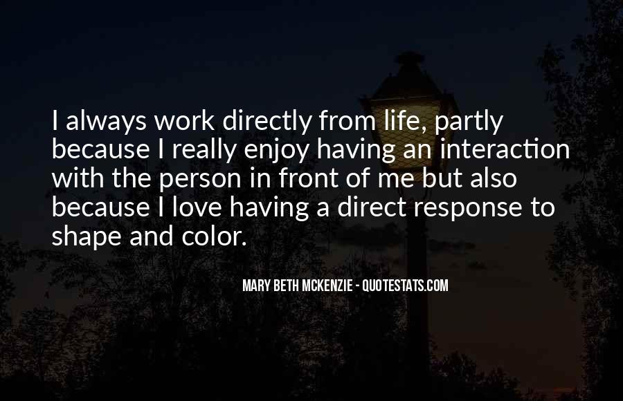 Mary Beth McKenzie Quotes #1168857