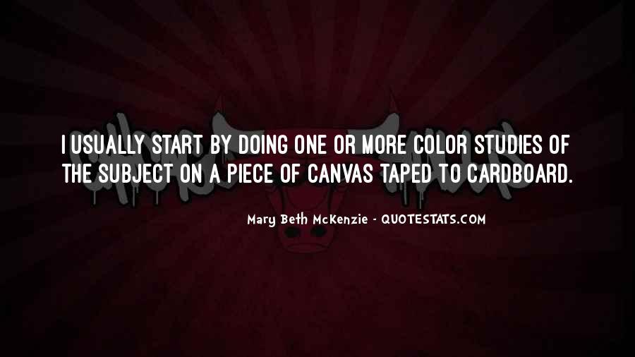 Mary Beth McKenzie Quotes #320499