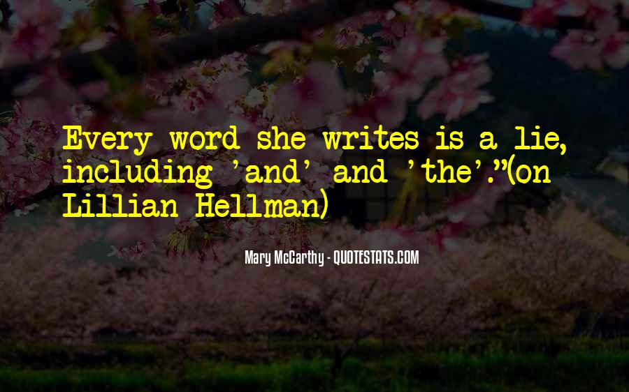 Mary McCarthy Quotes #1781109