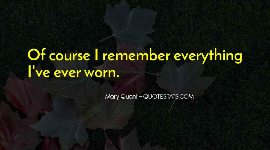 Mary Quant Quotes #163254