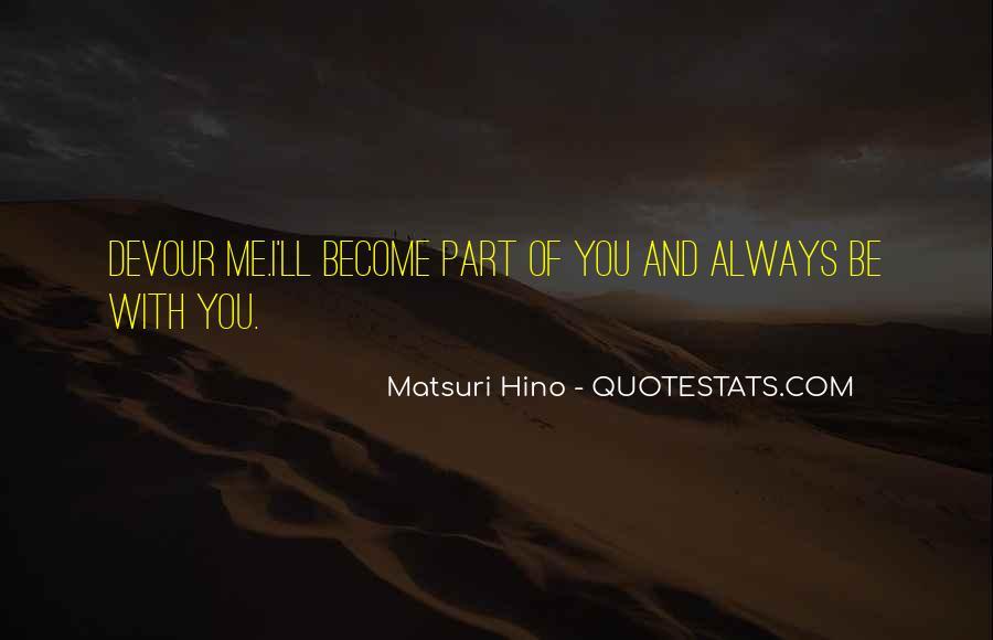 Matsuri Hino Quotes #544517